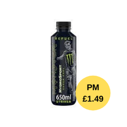 Picture of PM £1.49 MONSTER HYDRO SPORT STRIKER 650ML X 12