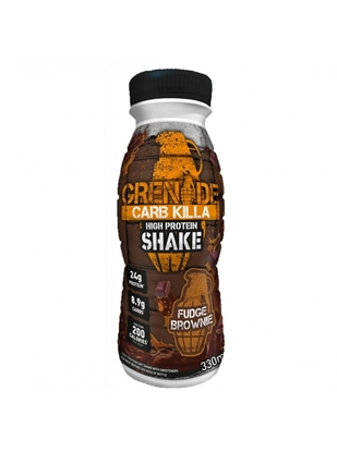 Picture of GRENADE MILKSHAKE FUDGE BROWNIE  330ML X 8