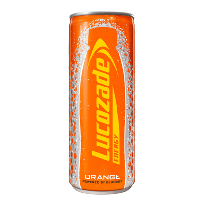 Picture of PM 65P LUCOZADE ORANGE CANS *250ML* x 24