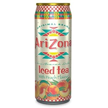 Picture of ARIZONA *CANS* PEACH ICED TEA 500ML X 12