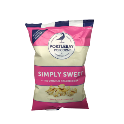 Picture of PORTLEBAY SIMPLY SWEET POPCORN 75G X 8