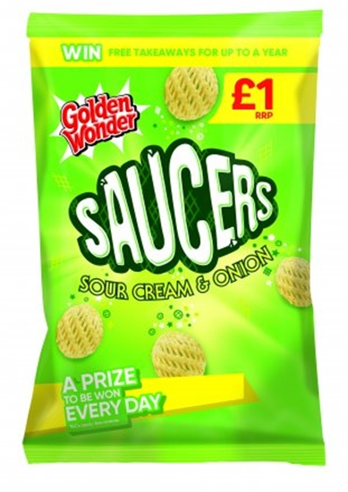 Picture of PM £1/ 2 FOR £1.50 G.W SOUR CREAM SAUCERS 65G X 15