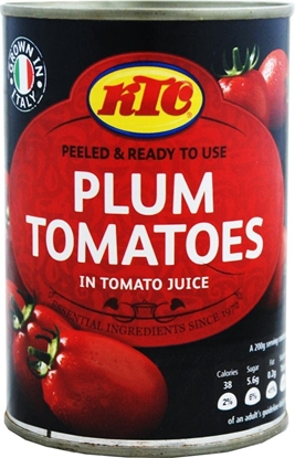Picture of KTC PEELED PLUM TOMATOES 400G X 12