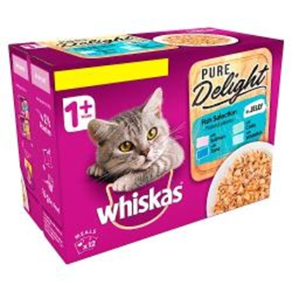 Picture of PM £4.25 WHISKAS PURE DELIGHT FISH 87G X 12PK X 4