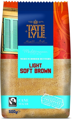 Picture of TATE & LYLE LIGHT SOFT BROWN SUGAR 500G X 10