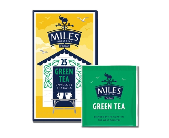 Picture of MILES GREEN TEA *TAGGED* AND ENV 25'S X 6
