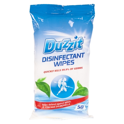 Picture of DUZZIT DISINFECTANT WIPES 50PK X 12
