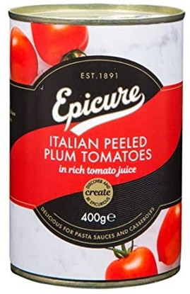 Picture of EPICURE PEELED PLUM TOMATOES 400G X 12