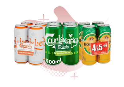 Picture for category PRICE MARKED LAGER CANS