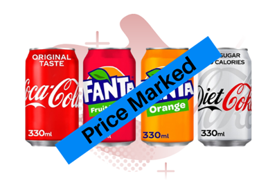 Picture for category PRICE MARKED COCA COLA CANS