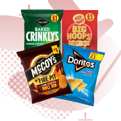 Picture for category £1 SNACKS AND CRISPS