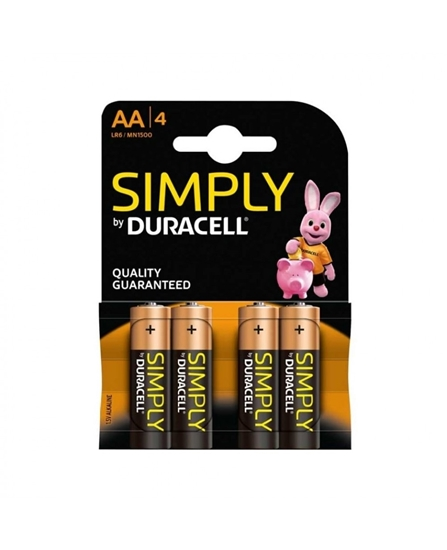 Picture of DURACELL SIMPLY * AA * 4S X 20