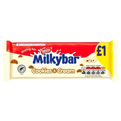 Picture of PM £1 MILKYBAR COOKIE & CREAM 90g x 14