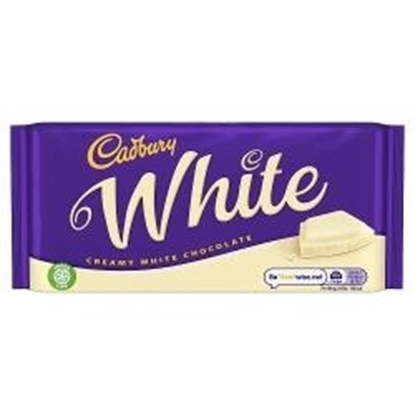 Picture of CADBURY WHITE BLOCK 180G X 18