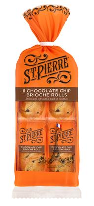 Picture of ST PIERRE 8 CHOCOLATE CHIP BRIOCHE ROLLS x 7