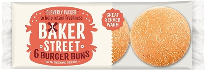 Picture of BAKER STREET 6 SEEDED BURGER BUNS X 8