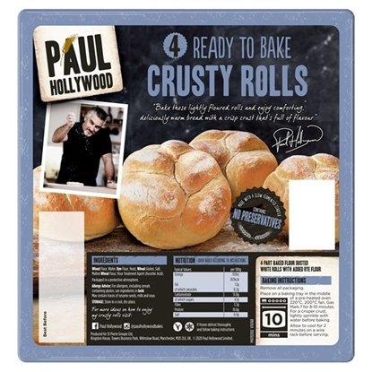 Picture of PAUL HOLLYWOOD 4 RTB CRUSTY ROLL X 12