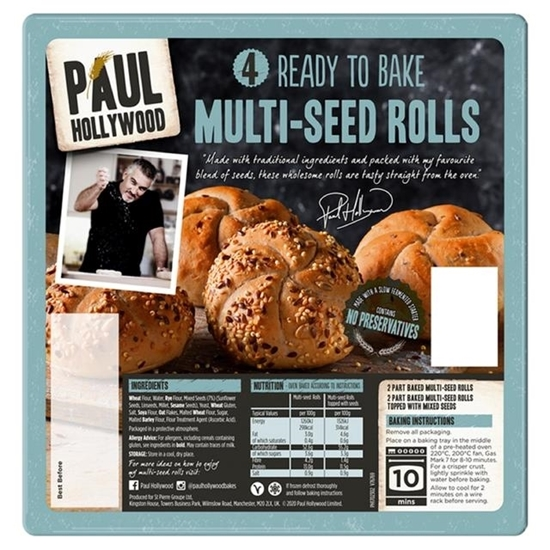 Picture of PAUL HOLLYWOOD 4 RTB MULTI-SEED ROLLS X 12
