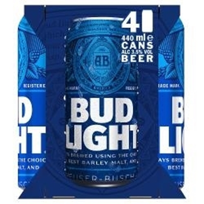 Picture of BUDWEISER LIGHT 4PK X 440ML X 6