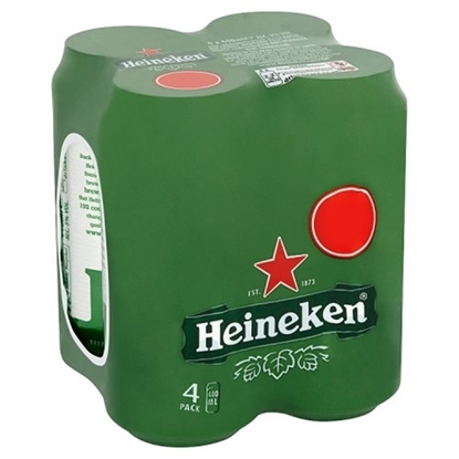 Picture of PM £5.25 HEINEKEN 4PK X 440ML X 6