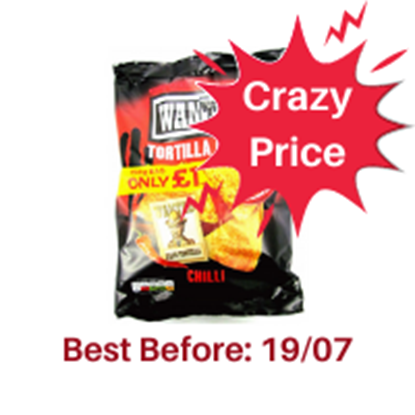 Picture of PM £1 WANTED TORTILLA *CHILLI* 150G X 12