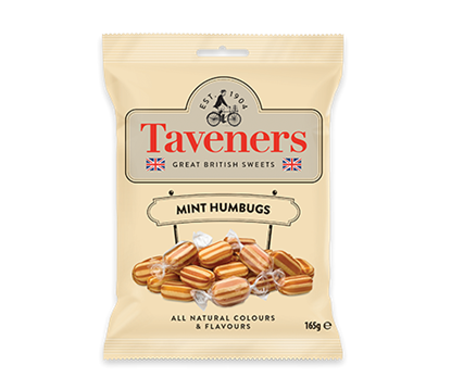 Picture of TAVENERS MINT HUMBUGS 165G x12