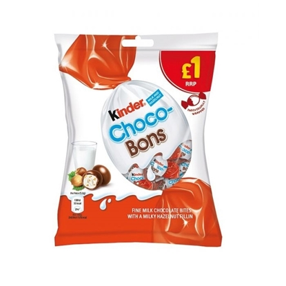 Picture of PM £1 KINDER SCHOKOBON BAG 70G x10