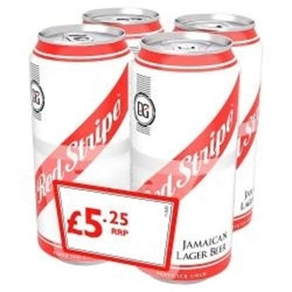 Picture of PM £5.25 RED STRIPE 440ML 4PK X 6