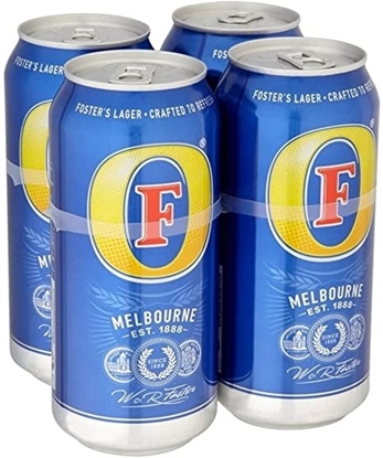 Picture of PM £4.65 FOSTERS 440ML 4 PACK X 6
