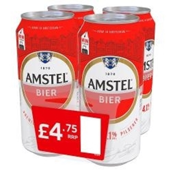 Picture of PM £5.00 AMSTEL LAGER 4PK X 440ML X 6