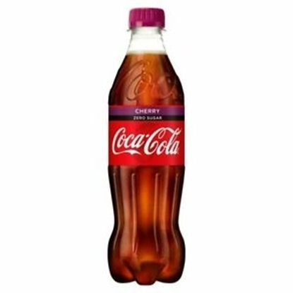 Picture of PM £1 COKE *ZERO* CHERRY 500ML  BOTTLE x 12