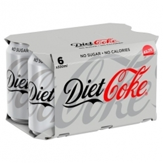 Picture of PM £2.75 DIET COKE CANS 330ml 6PK x 4