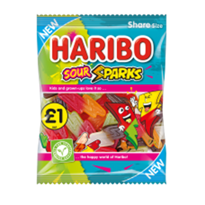 Picture of PM £1 HARIBO SOUR SPARKS 160g x 12
