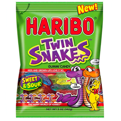 Picture of PM £1 HARIBO TWIN SNAKES 160g x 12