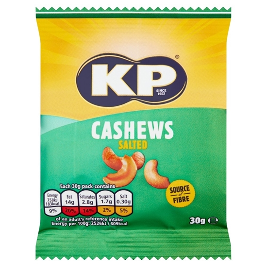Picture of KP SALTED CASHEWS CARD 30g x12