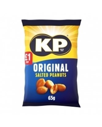 Picture of PM £1 KP SALTED NUTS 65G(BOX) x 16