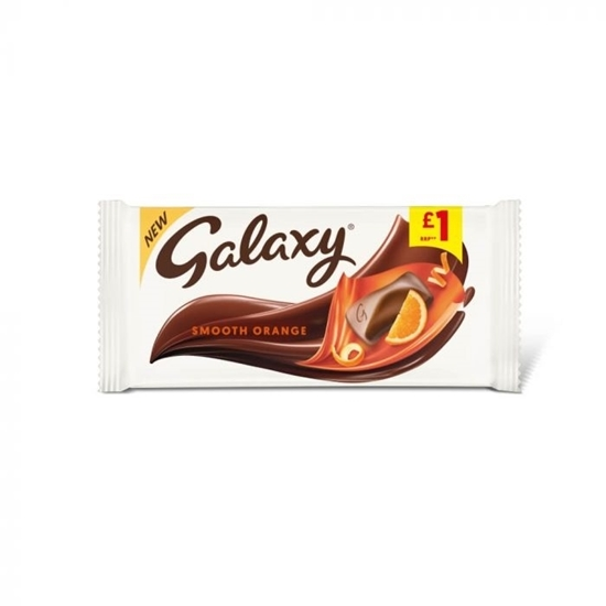 Picture of PM £1 GALAXY SMOOTH ORANGE 110g x 24