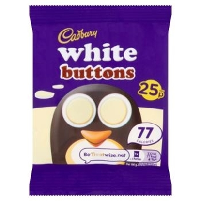 Picture of PM 25P CADBURY WHITE BUTTONS 14.4G X 60