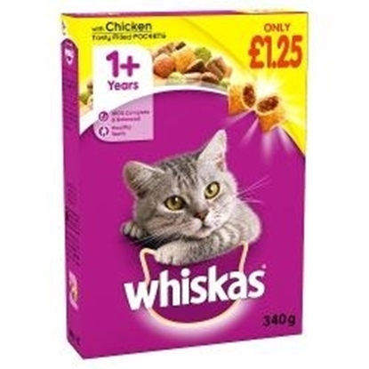 Picture of PM £1.25 WHISKAS COMPLETE DRY CHICKEN 340g x 6