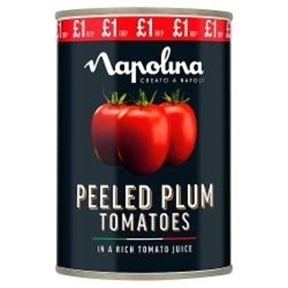 Picture of PM £1 NAPOLINA PLUM TOMATOES 400G X 12