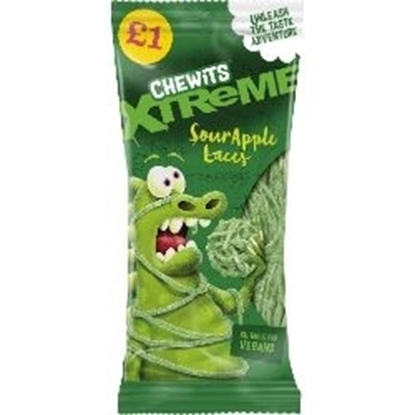 Picture of PM £1 CHEWITS XTREME SOUR APPLE LACES 200G X 12