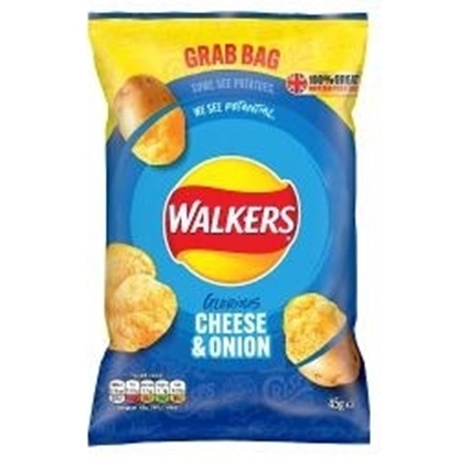 Picture of WALKERS GRAB BAG CHEESE & ONION 45g x 32