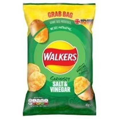 Picture of WALKERS GRAB BAG SALT & VINEGAR 45g x 32