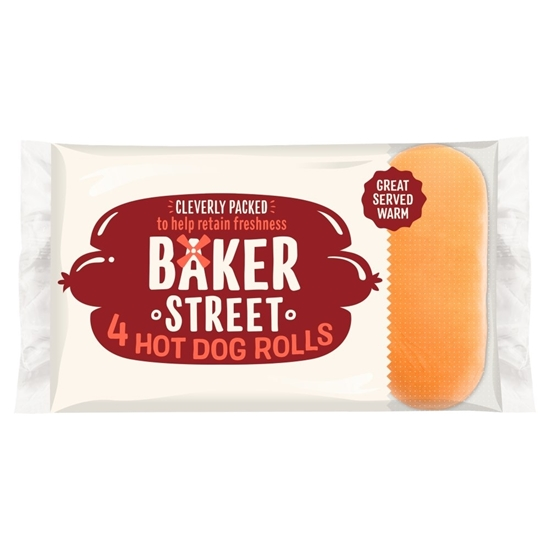 Picture of BAKER STREET 4 HOT DOG ROLLS X 8