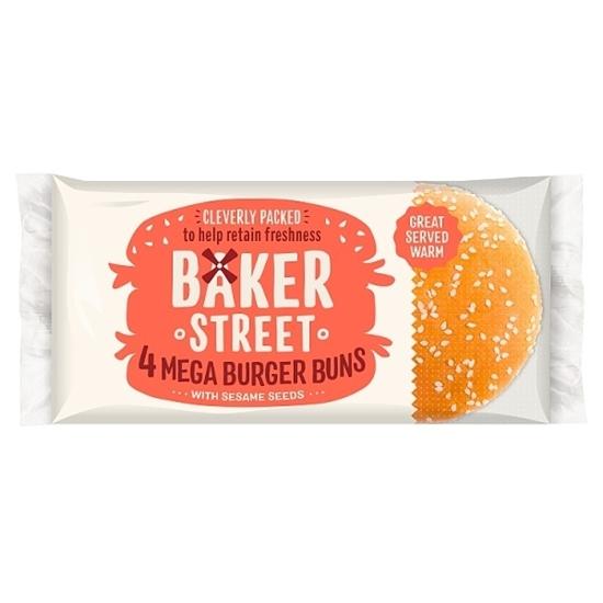 Picture of BAKER STREET 4 SEEDED MEGA BURGER BUNS X 7