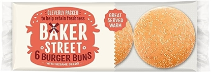 Picture of BAKER STREET 6 BURGER BUNS X 8