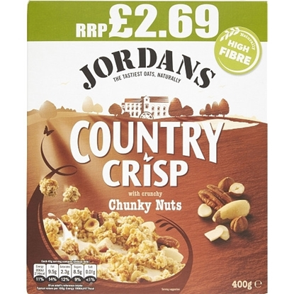Picture of PM £2.69 JORDANS COUNTRY CRISP CRUNCHY NUTS 400gx6