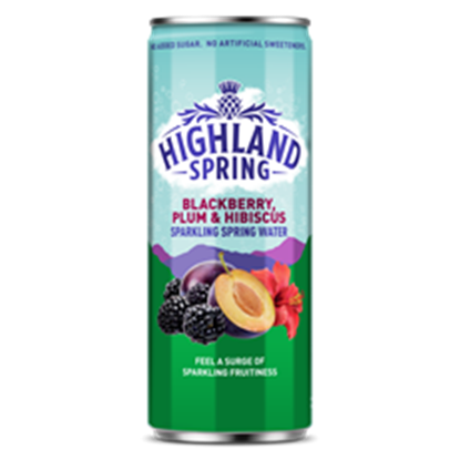 Picture of HIGHLAND SPRING SPARK B/BERRY PLUM &HIBISCUS 330ml