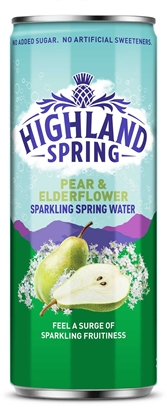 Picture of HIGHLAND SPRING SPARKLING PEAR & ELDERFLOWER 330ml
