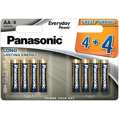 Picture of PANASONIC SILVER AA 4+4 X 12